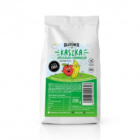 Kaszka jabłkowo-bananowa niskobiałkowa - Produkty Niskobiałkowe - Glutenex