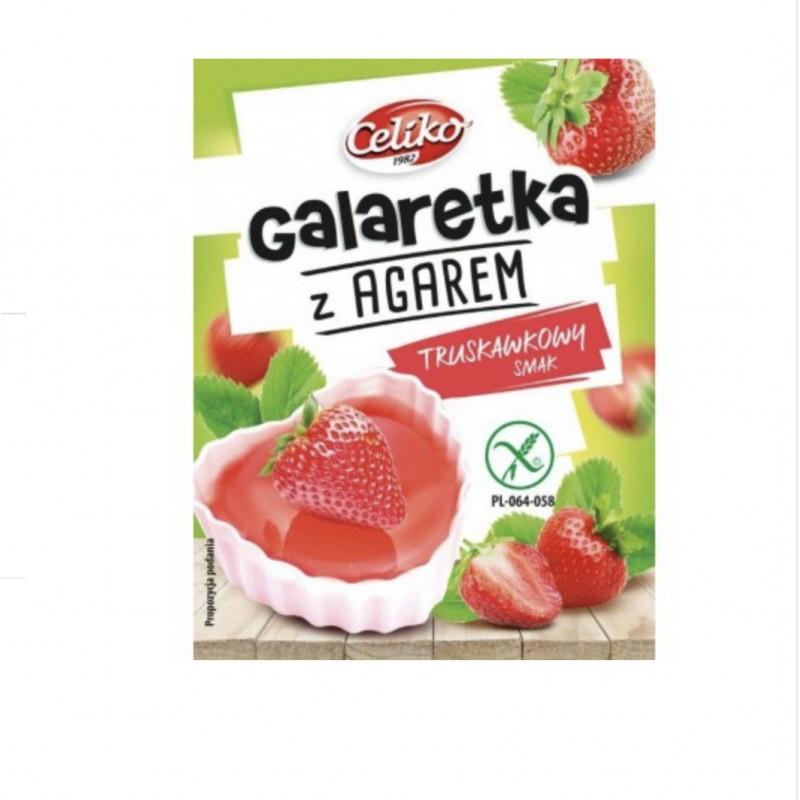 GALARETKA Z AGAREM O SMAKU TRUSKAWKOWYM - Produkty Bezglutenowe - Celiko