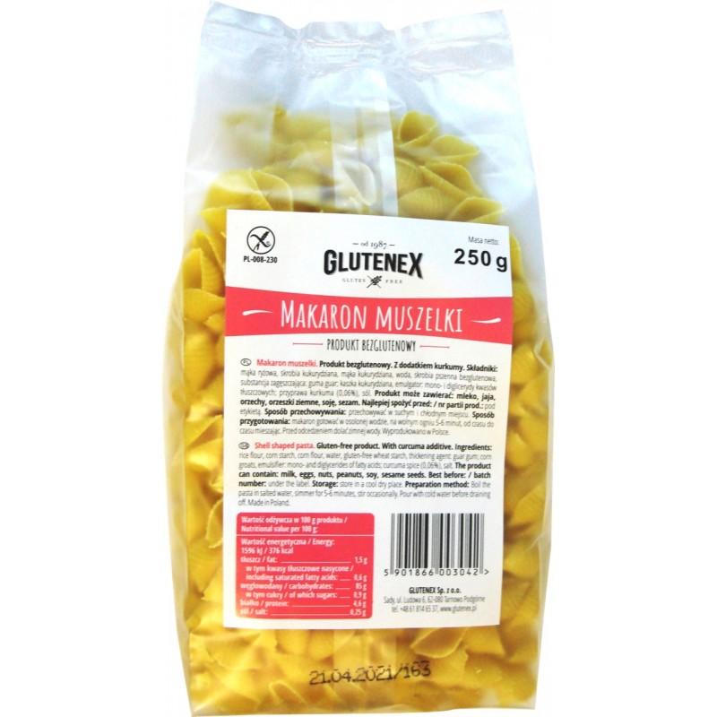 Makaron muszelki - Produkty Bezglutenowe - Glutenex